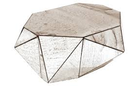 faceted mirror coffee table loading zoom