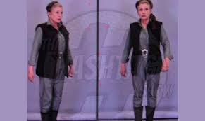 carrie fisher leia force awakens. Beautiful Force Carrie Fisher Leia Organa Star Wars The Force Awakens Costume Making  Of Wars With