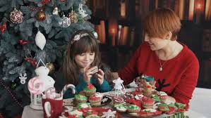 Two Little Girls Opening Gifts On Christmas Day Stock Footage Gifts On Christmas