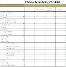 Kitchen Remodel Checklist Bathroom Remodel Checklist Template Kitchen Remodel Checklist