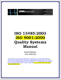 Quality Manual Template ISO 24 Documented Quality Management System Quality Manual 5