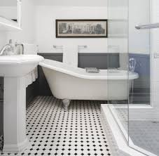 Black And White Tile Floor Bathroom Ideas - Thedancingparent.com