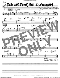 7 years old sheet music adderley old man from the old country sheet music real book