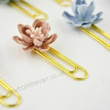 Flower Paper Clips Chinese Style 4 Pieces Box Handworking Flower Decoration