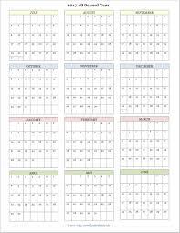free printable academic calendar for 2017 2018 school year