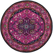 pink and navy rug pink navy 5 ft x 5 ft round area rug navy pink