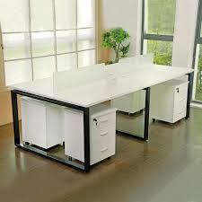 steel office desk. office workstation wood and stainless steel desk e