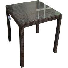 mainstays round outdoor glass top side table com