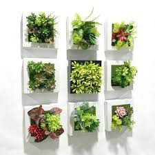 plant wall decor artificial succulent plants plastic ferns green grass photo frame wall decoration flowers home