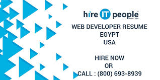 Web Developer Resume Egypt Hire It People We Get It Done