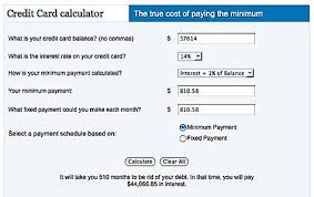 Credit Card Interest Calculator How Much Are You Paying The Bankshow