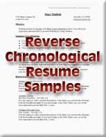 resumes  job placement  amp  cooperative education   butte collegereverse chronological resume samples