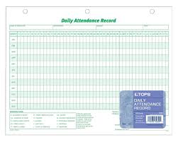 Employee Attendance Record Template Daily Attendance Record White Index 24Hole Punched Left 24 SHPK 23