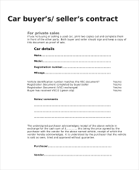 Purchase Agreement Vehicle Sample Car Purchase Agreement Form 9 Sample Purchase Agreement Forms