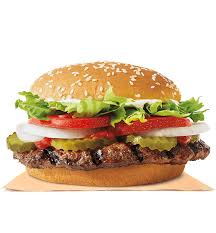 our whopper sandwich is a ¼ lb of savoury flame grilled beef topped with juicy tomatoes fresh cut lettuce creamy mayonnaise crunchy pickles