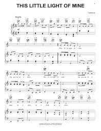 This Little Light Of Mine Sheet Music Free Download This Little Light Of Mine