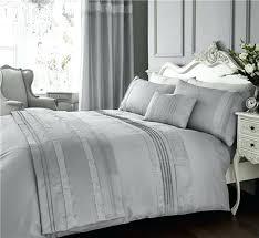 grey king size duvet cover super set luxury bedding silver diamante quilt uk