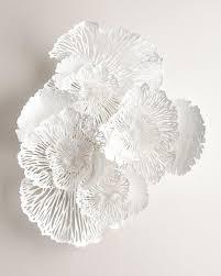 large white metal wall art adorable white flower wall art design decoration