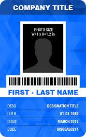 Company Id Badge Template Vertical Design Employee Photo Id Badge Templates Word