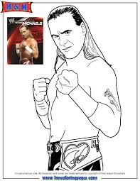 Small Picture WWE Monday Night Raw Shawn Michaels Coloring Page H M Coloring