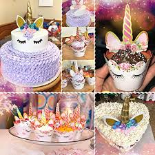 Jual Unicorn Cake Topper With Eyelashes And Unicorn Cupcake Toppers