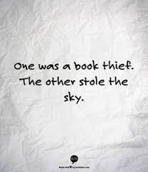 the book thief markus zusak this book is amazing it s narrated one was a book thief the other stole the sky the book thief by