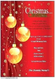 Formal Christmas Party Invitations Free Holiday N Templates Word Party Ous Dinner Invitation