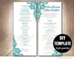 Free Microsoft Word Wedding Program Template Free Printable Wedding Program Templates Word Cumed Org