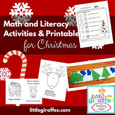Christmas Theme Activities and Printables for Math and Literacy ...
