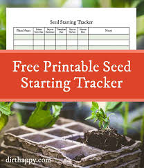 free printable seedling starter tracker