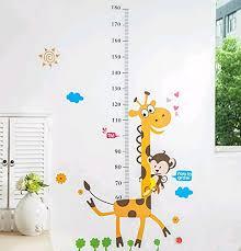 Giraffe Growth Chart Wall Decal Growth Chart Wall Sticker