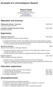 Canadian Example Resume Winter Sports Company