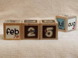 perpetual calendars you just switch sides of the blocks in this case to give the cur date these sit nicely on a desk or a kitchen window sill