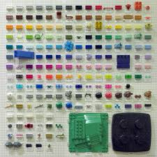 Lego Brick Colour Chart Artist Creates Chart Cataloging The Lego Colors Mental Floss
