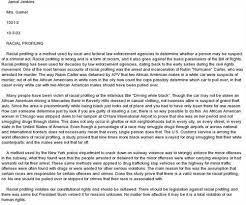 racial profiling essay thesis racial profiling argument essay  racial profiling essay thesis racial profiling argument essay outline period write a com