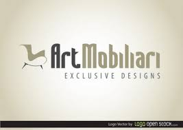 Furniture logo design with stylish typeface Vector Free Download