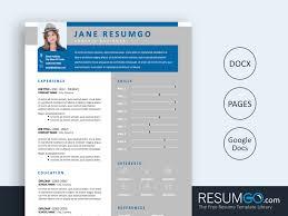Modern Resume Templete Usiris Blue Gray Modern Resume Template Resumgo Com
