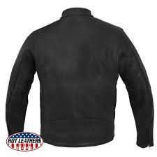 hot leathers usa made men s black leather motorcycle jacket