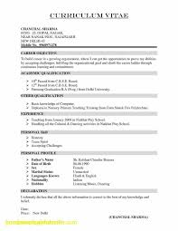 Cv Resume Example Jobs Archives - Altinci.net Fresh Cv Resume ...