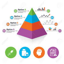 Pyramid Chart Template Medicine Icons Medical Tablets Bottle