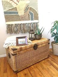 rattan storage trunks large vintage wicker rattan storage chest trunk bench coffee table wicker storage trunks australia