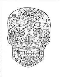 Free Printable Day Dead Coloring Pages And Day Of The Dead Adult