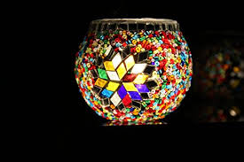 mosaic candle holder tea light holder turkish style handmade glass by hand chandelier candle holders