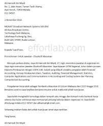 Cover Letter Job Application Malaysia The Best Letter