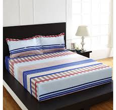 Nilkamal Bedroom Furniture Buy Arcade Stripe Double Bed Sheet Home By Nilkamal Blue