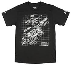 amazon com ford engine block schematic graphic t shirt clothing ford engine block schematic graphic t shirt small