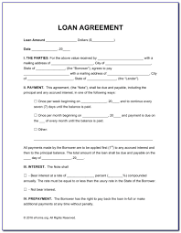 Borrowers, who usually consist of banks and other financial institutions in a position to lend money. Simple Loan Agreement Format In Tamil Vincegray2014