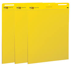 3m Flip Chart Paper Buy Post It Easel Pad 25 X 30 Inches Sheets Yellow Paper