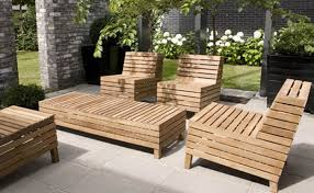 modern wooden outdoor furniture. Use Simple Design For Modern Wooden Outdoor Furniture Minimalits Patio  With Grey Flooring Modern Wooden Outdoor Furniture