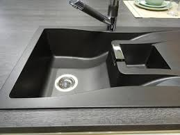 synthetic black composite granite kitchen sink with single bowl basin